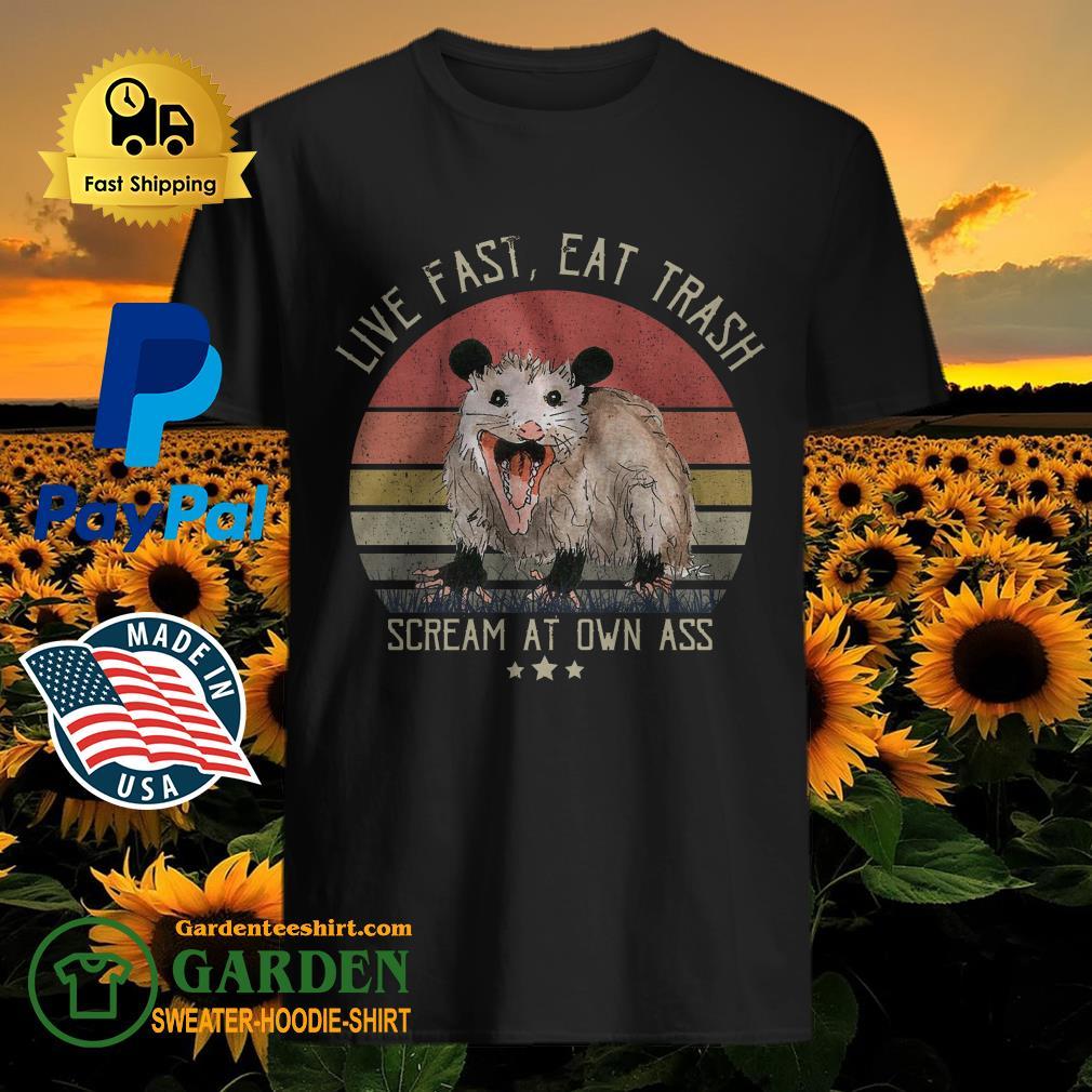 Opossum Live Fast Eat Trash Scream At Own Ass Vintage shirt