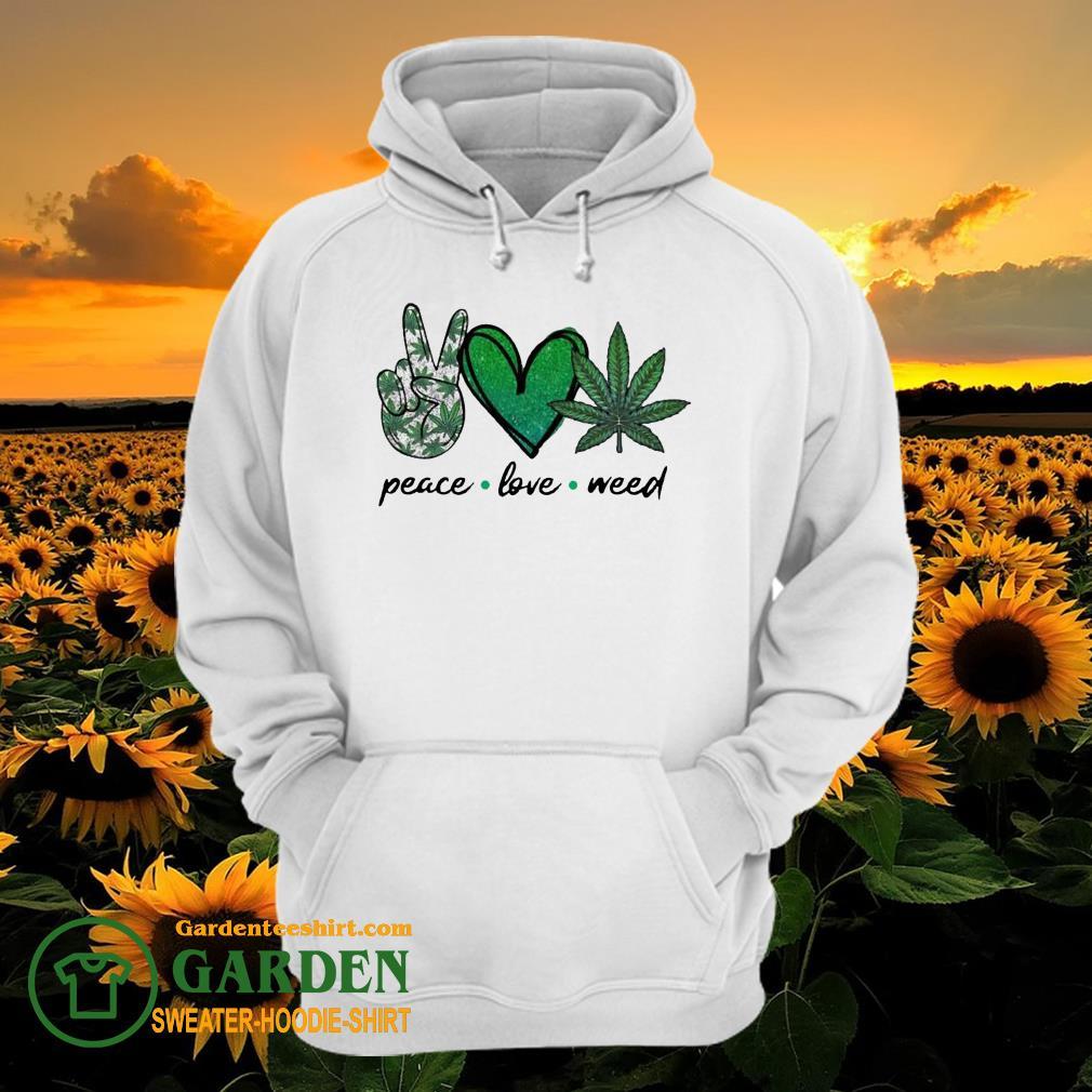 Peace Love Weed Diamond hoodie