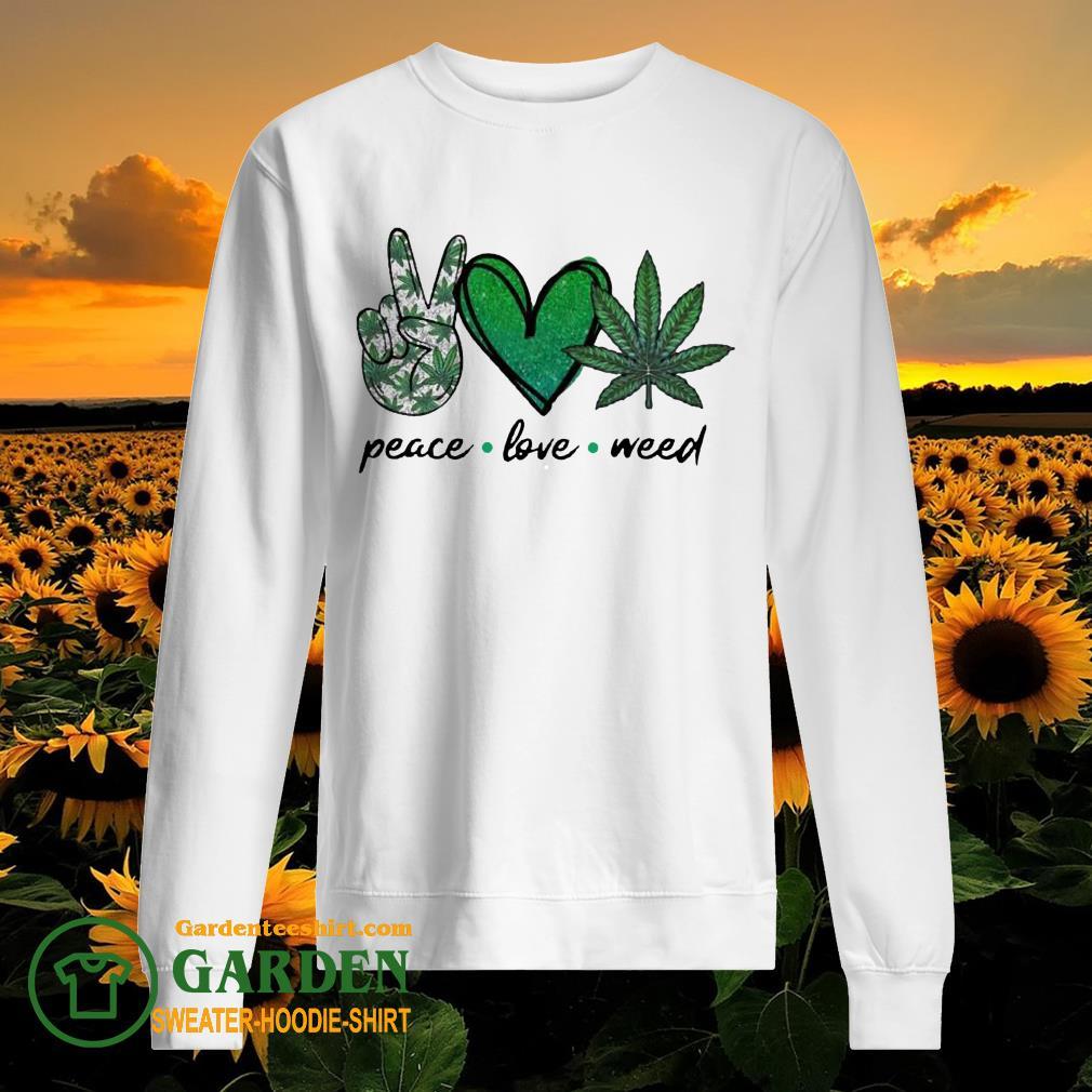 Peace Love Weed Diamond sweater