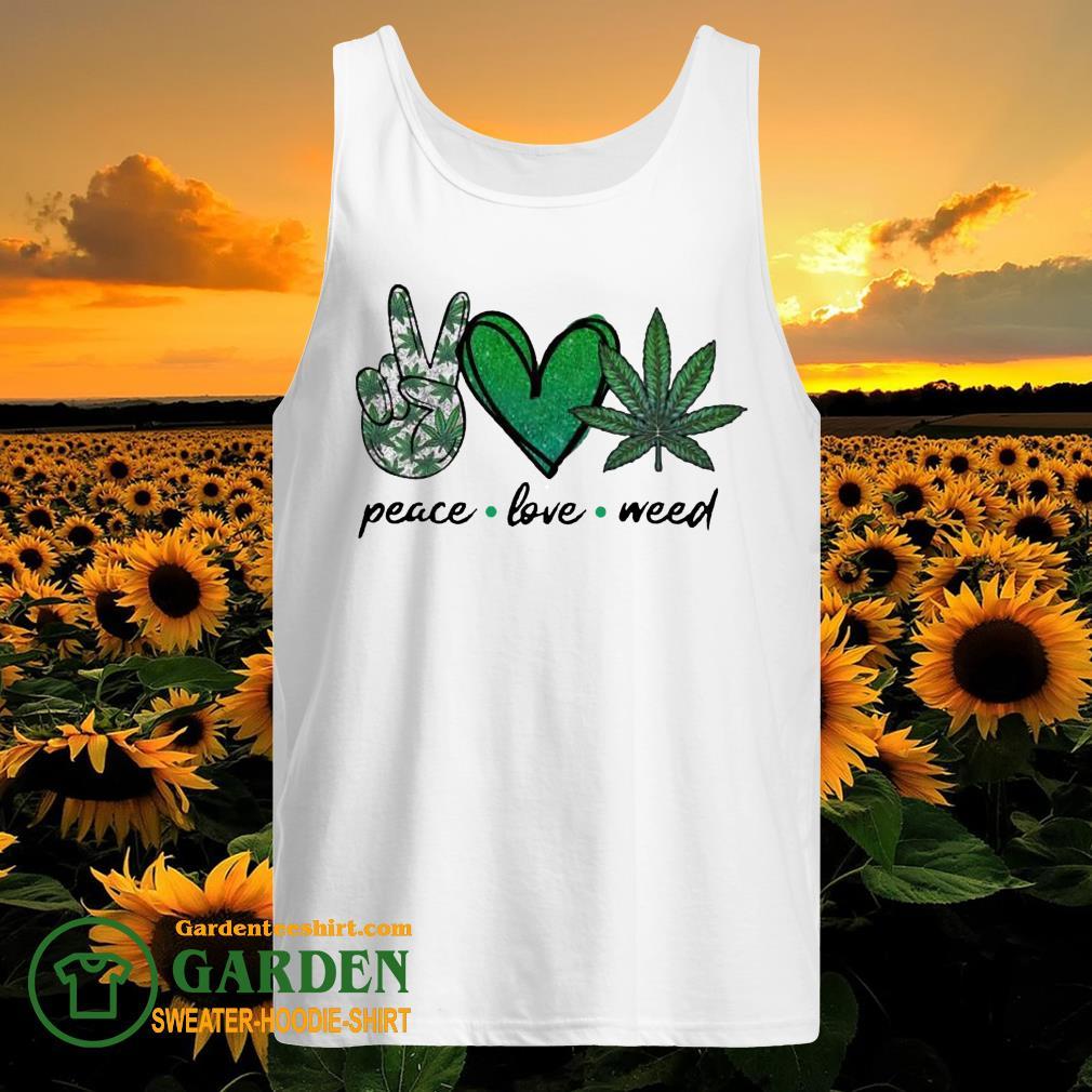 Peace Love Weed Diamond tank top