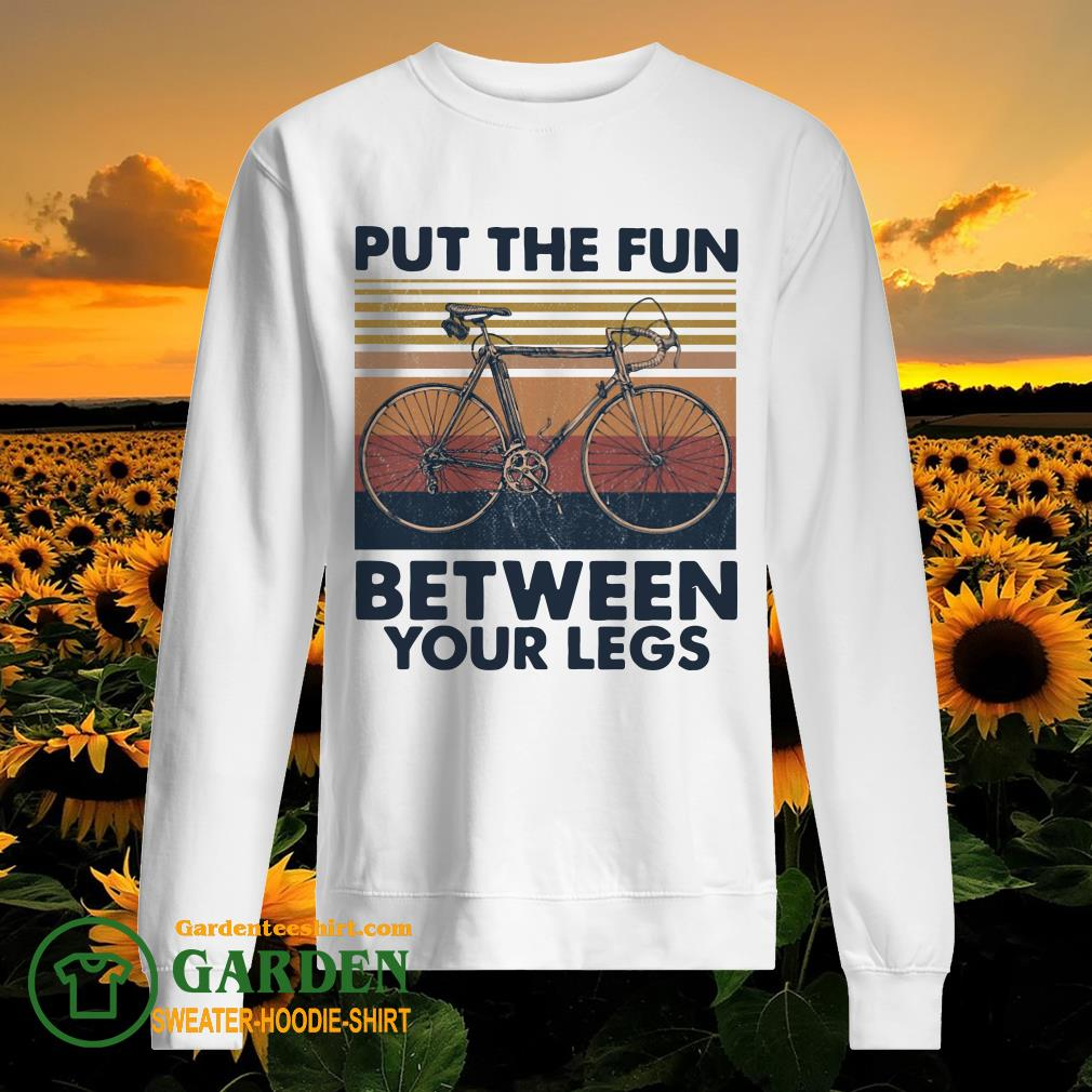 Put the fun between your legs cycling vintage sweater