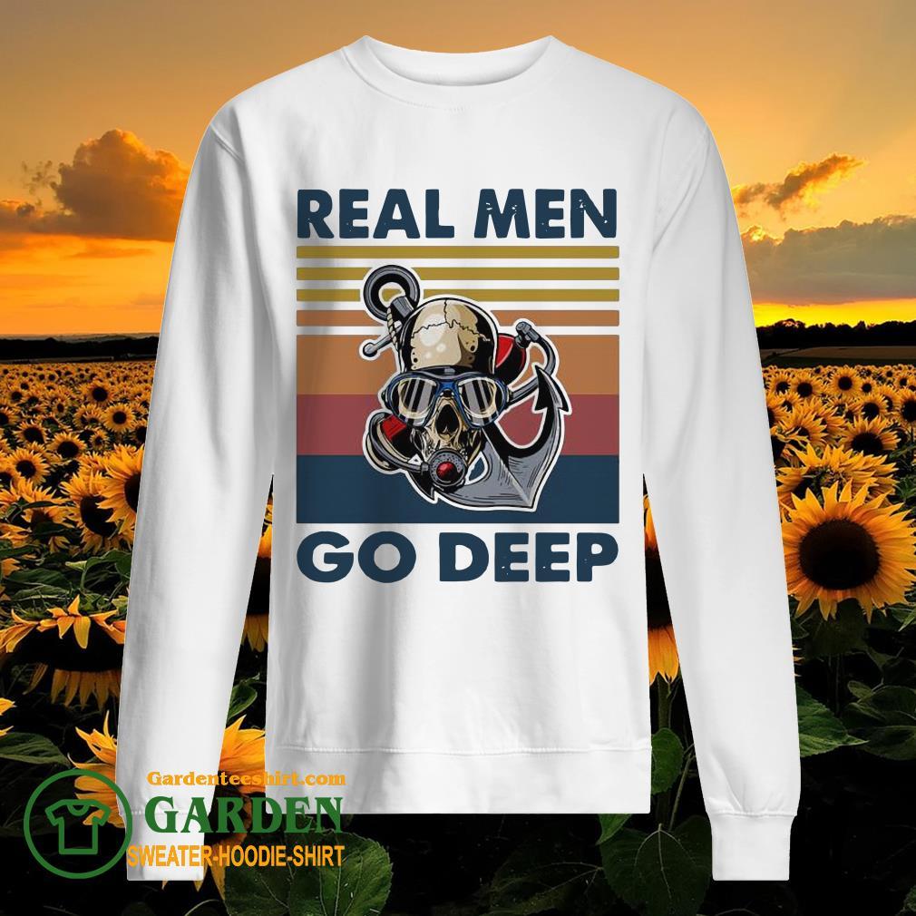 Real Men go Deep vintage sweater