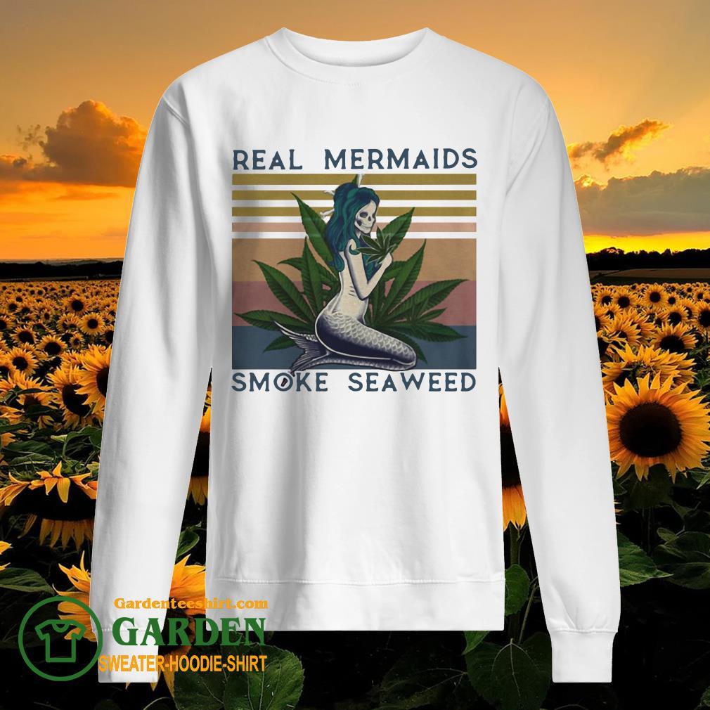 Real mermaids smoke seaweed vintage retro sweater