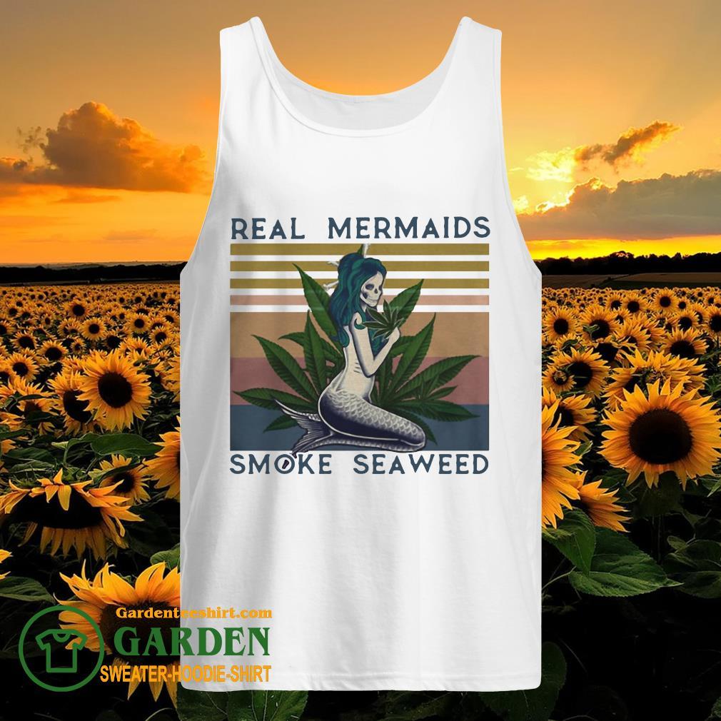 Real mermaids smoke seaweed vintage retro tank top