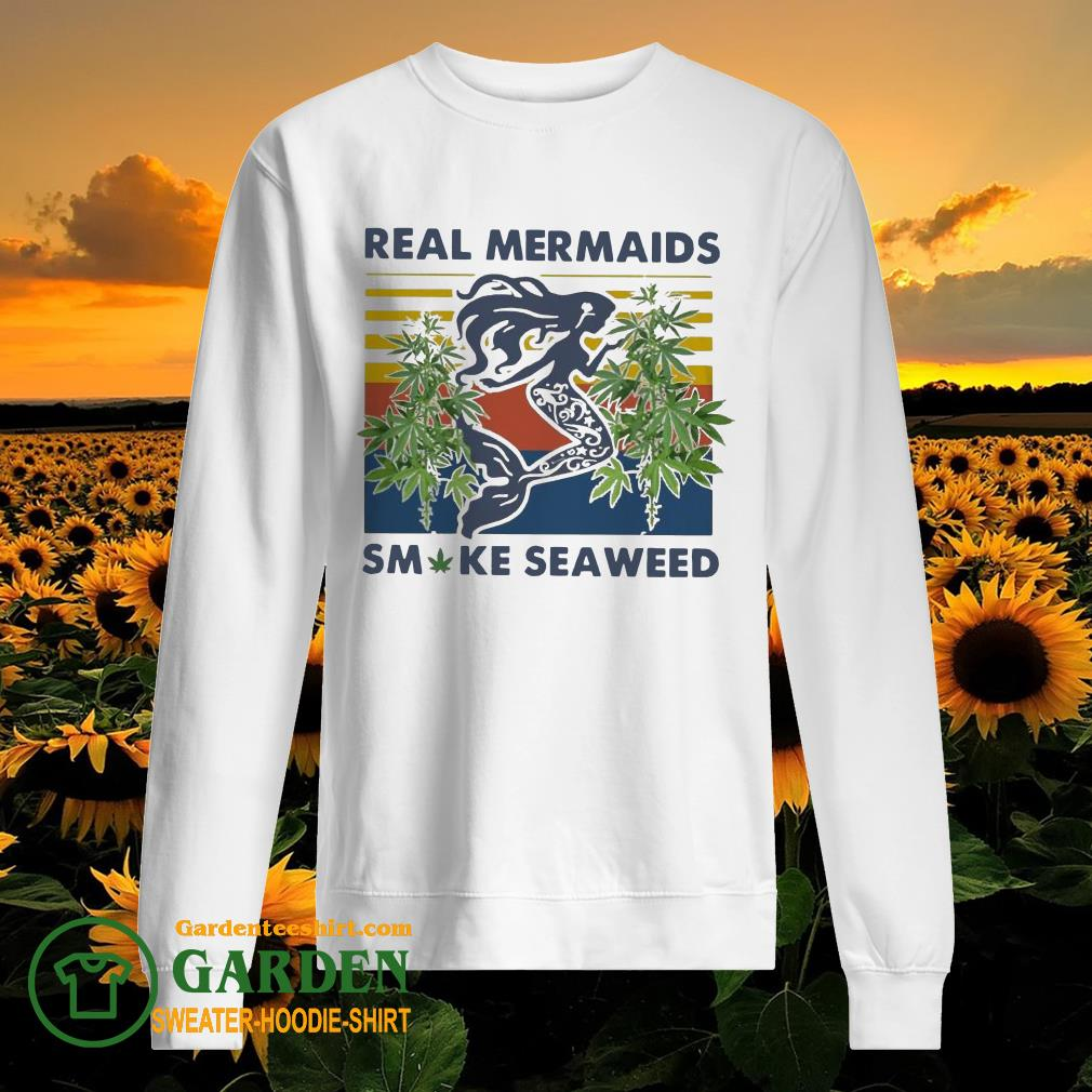 Real Mermaids Smoke Seaweed Vintage sweater