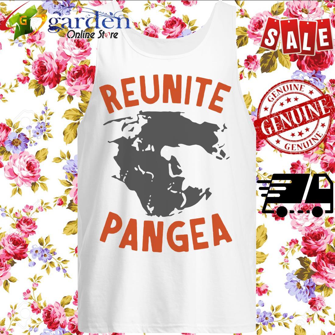 Reunite Pangea Pangaea Geography Dinosaur tank top