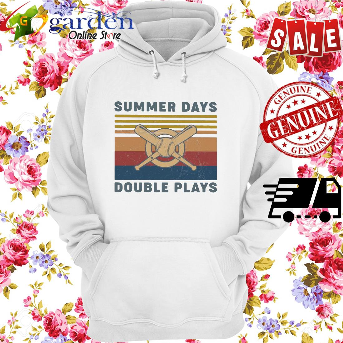 Summer Days Double plays vintage hoodie
