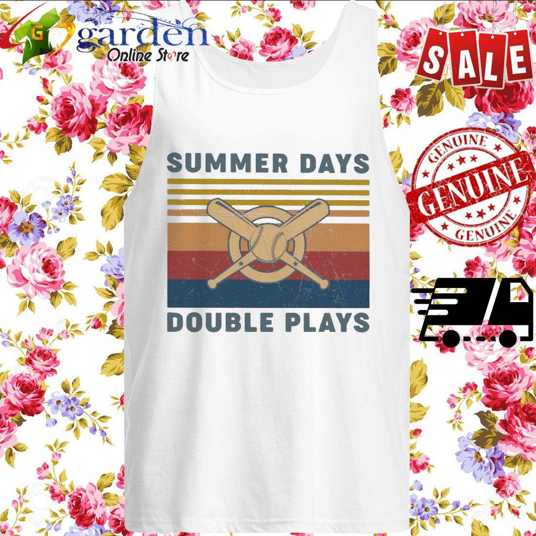 Summer Days Double plays vintage tank top