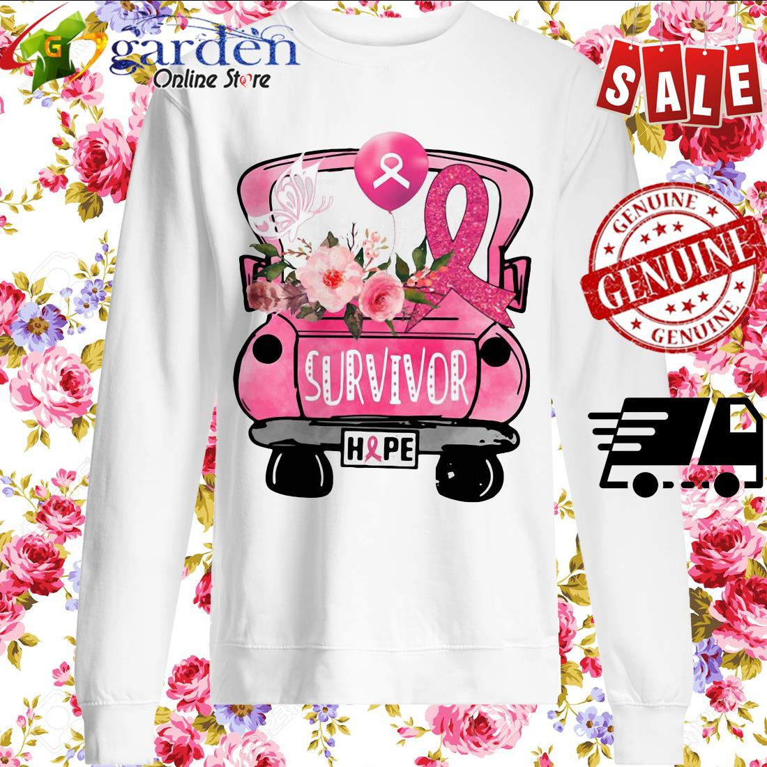 Survivor Breast Cancer Awareness sweater