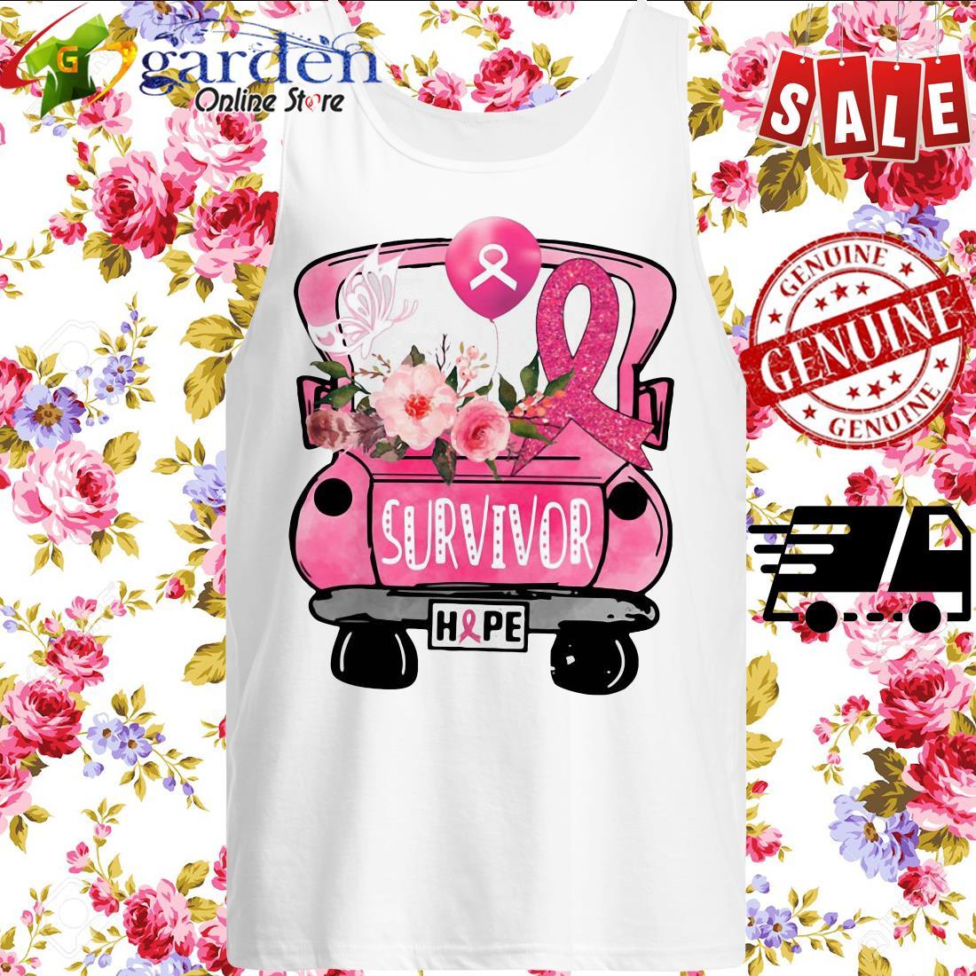 Survivor Breast Cancer Awareness tank top
