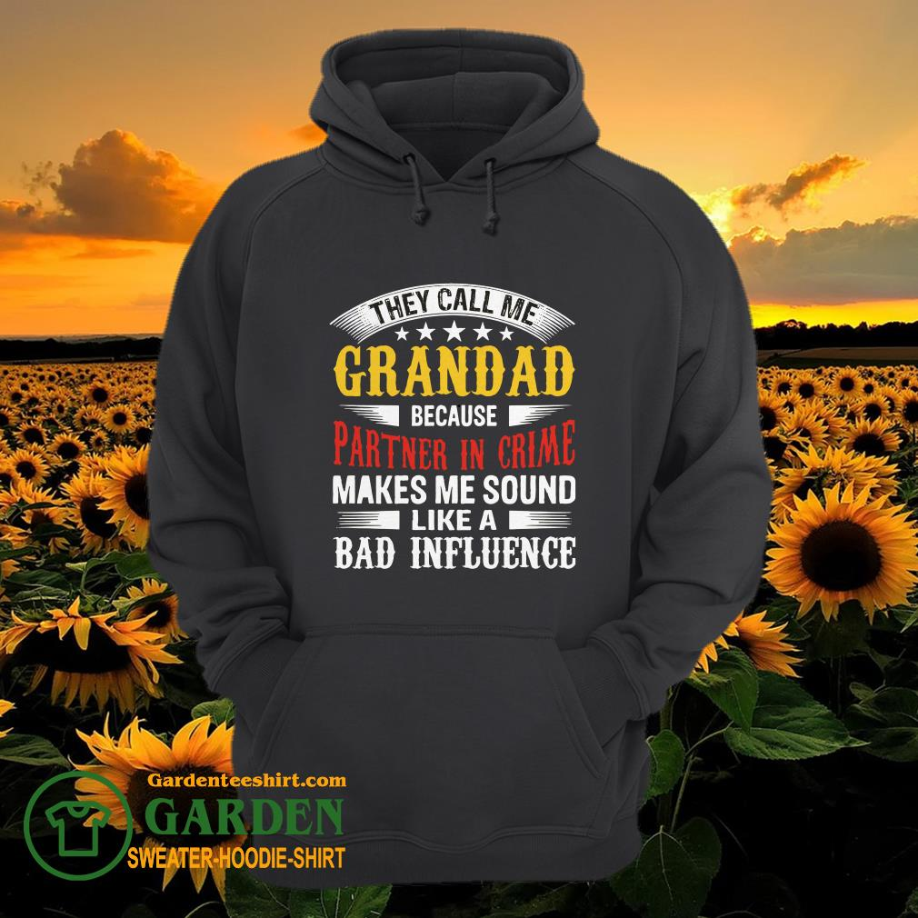 They Call Me Grandad Because Partner In Crime Makes Me Sound Like A Bad Influence hoodie
