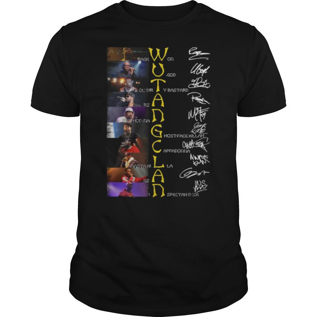 Wu Tang Clan Raekwon U God Ol'dirty Bastard Rza Method Man Signatures shirt