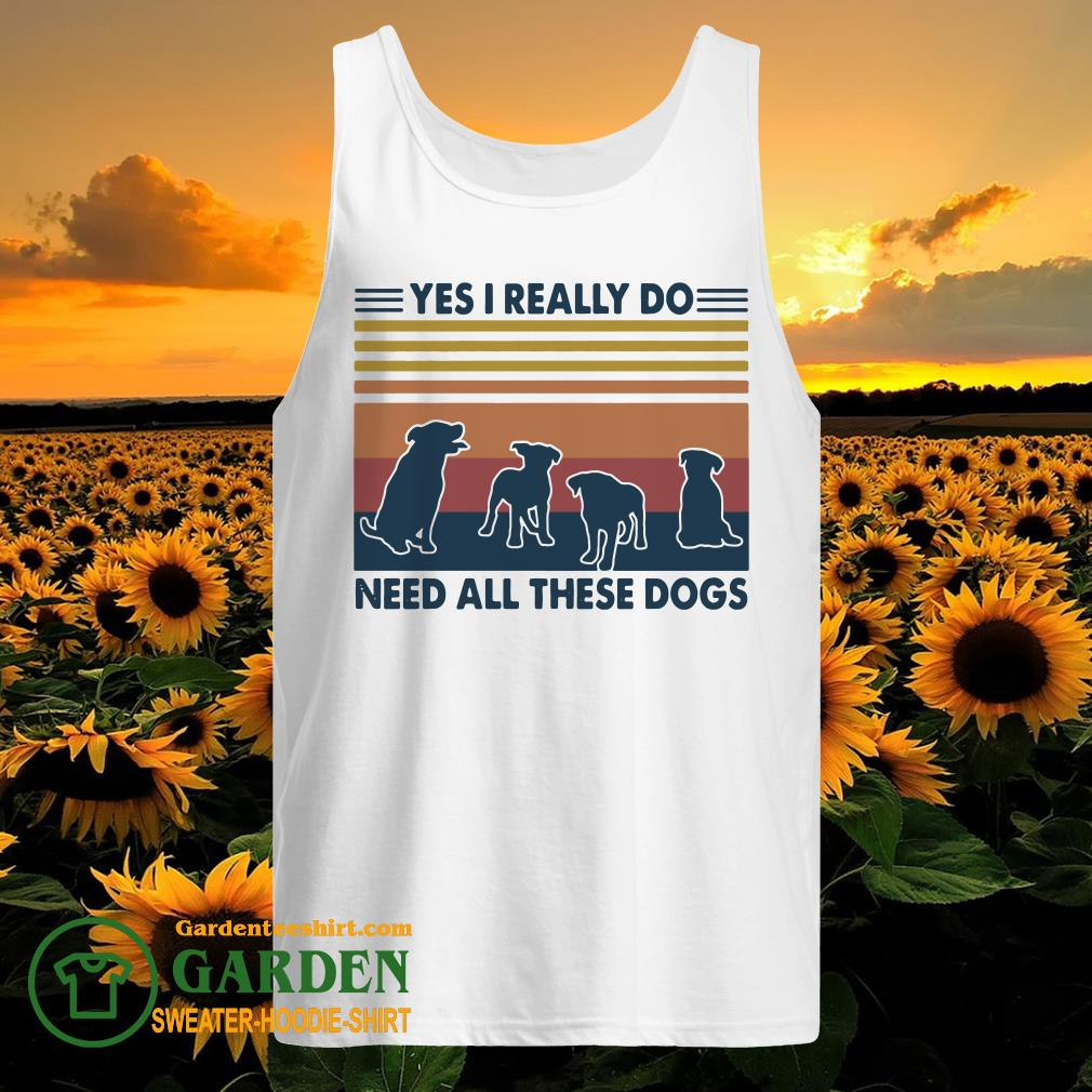 Yes I really do need all these dogs vintage tank top