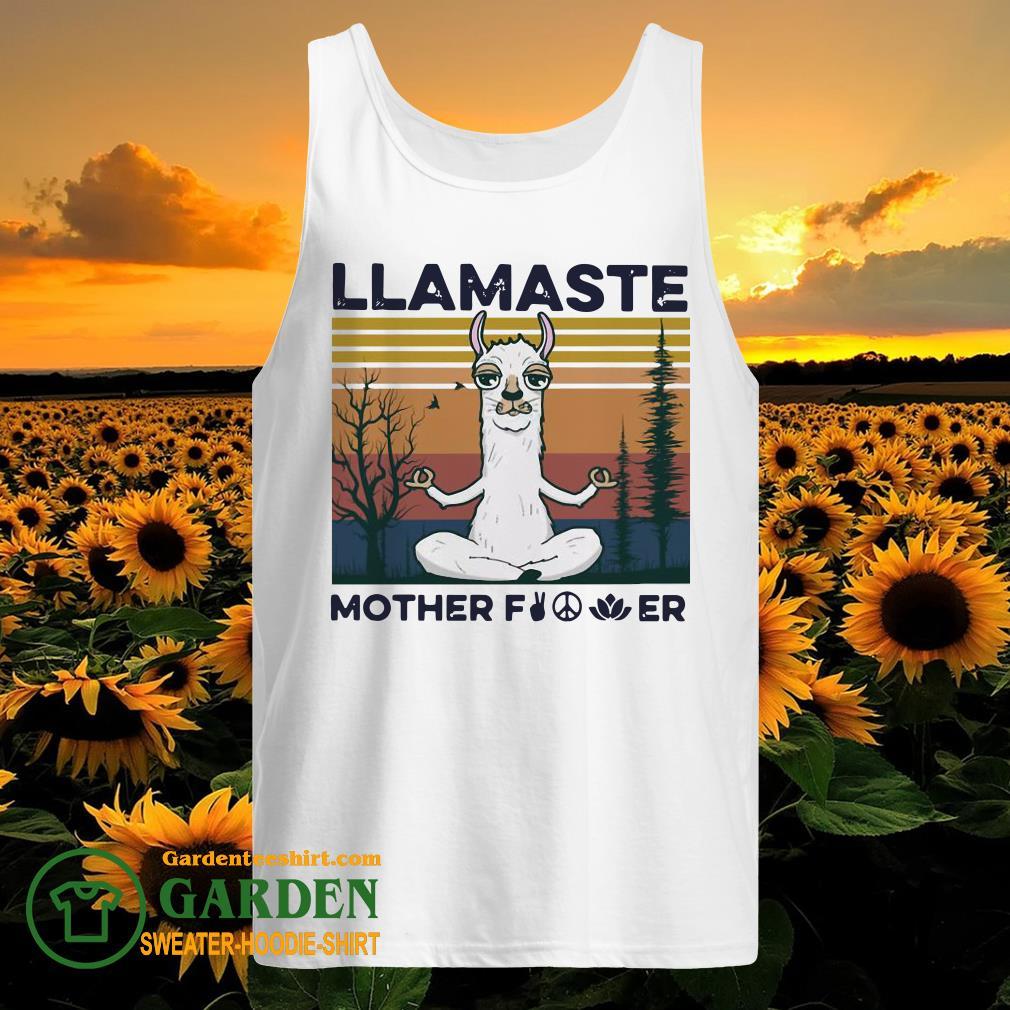 Yoga Llamaste Mother Fucker Vintage tank top
