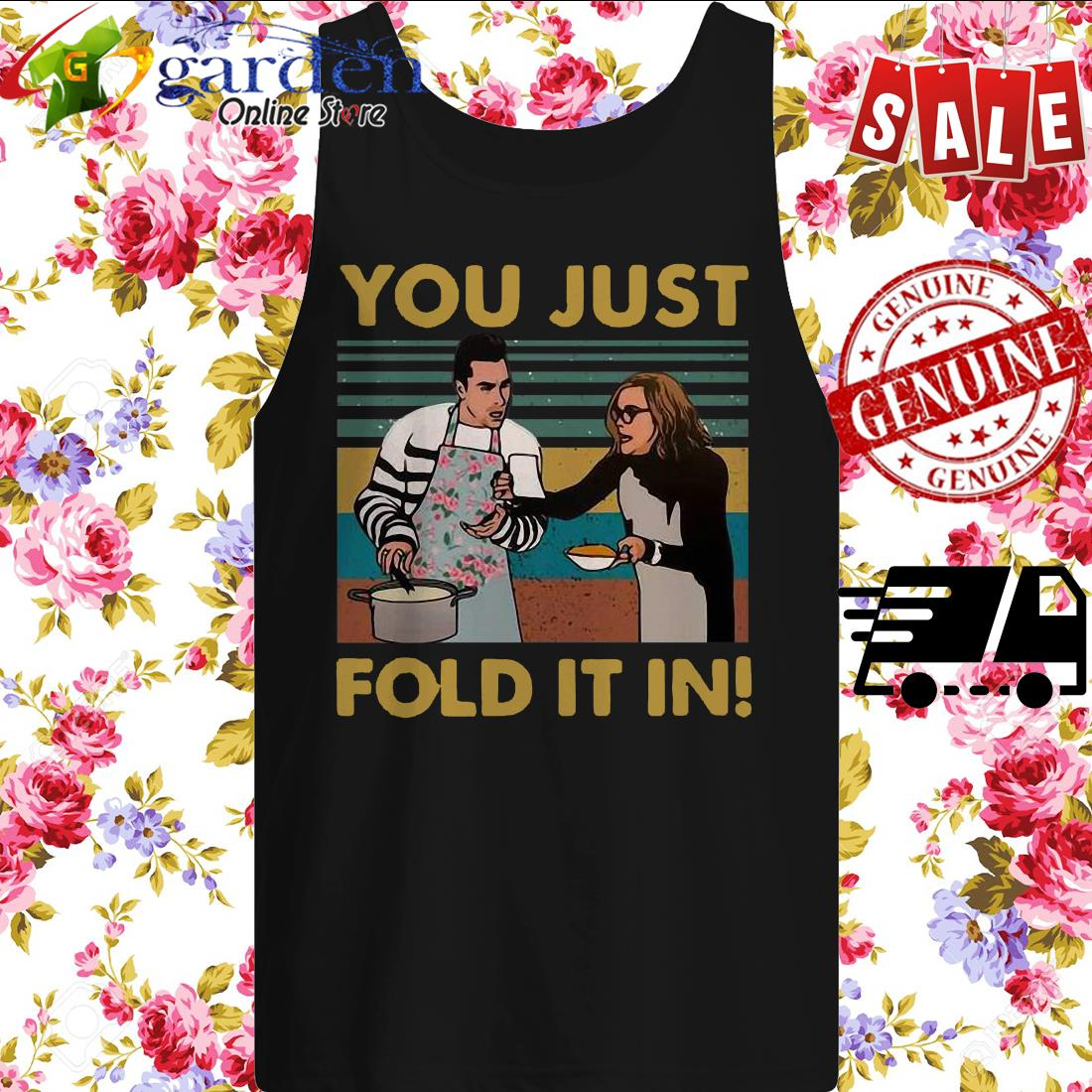You Just Fold It In Vintage tank top