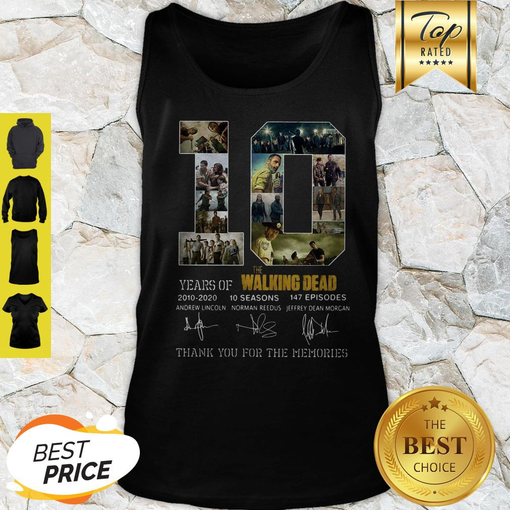 10 Years Of The Walking Dead 2010 2020 10 Seasons Signatures Tank Top
