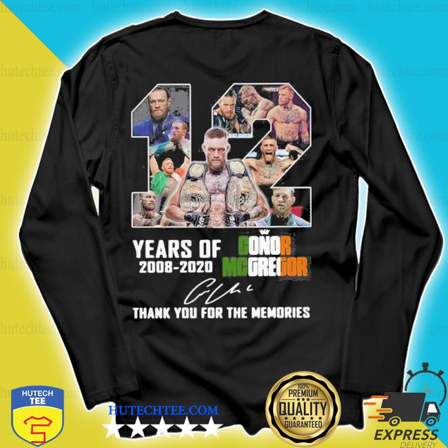 12 years of conor mcgregor 2008-2020 thank you for the memories signature s longsleeve