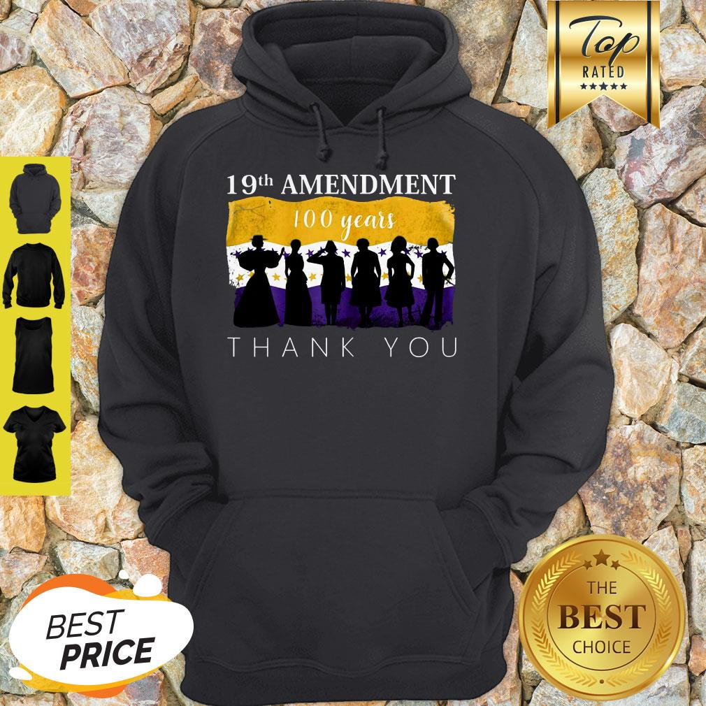 19th Amendment 100 Years Thank You 1920 Victory Flag Hoodie