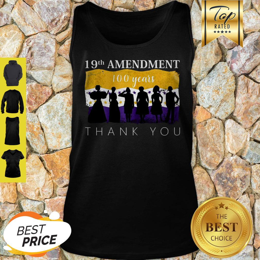 19th Amendment 100 Years Thank You 1920 Victory Flag Tank Top