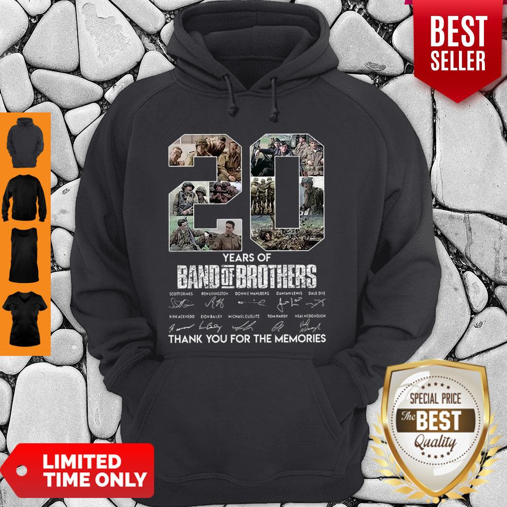 20 Years Of Band Of Brother Signature Thank You For The Memories Hoodie