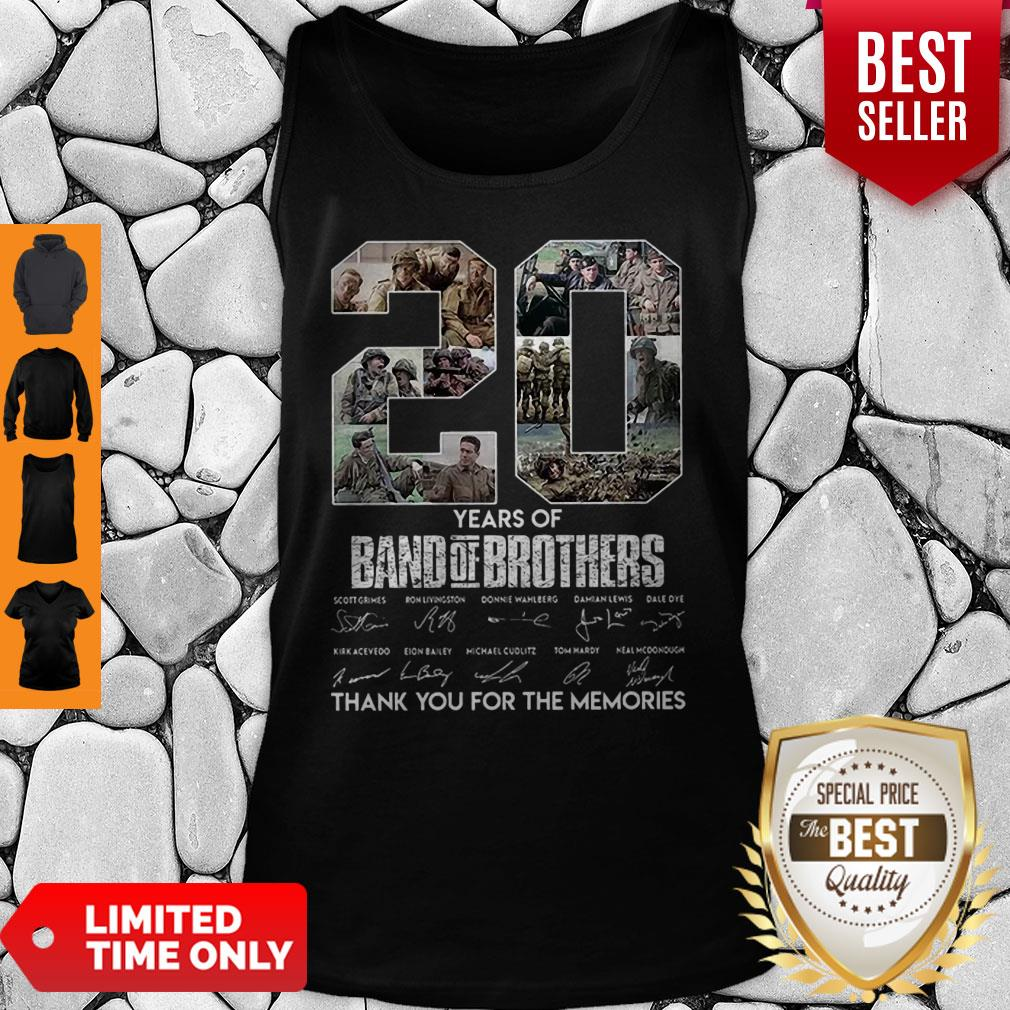 20 Years Of Band Of Brother Signature Thank You For The Memories Tank Top