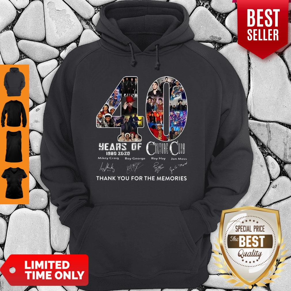 40 Years Of Culture Club Thank You For The Memories Signatures Hoodie
