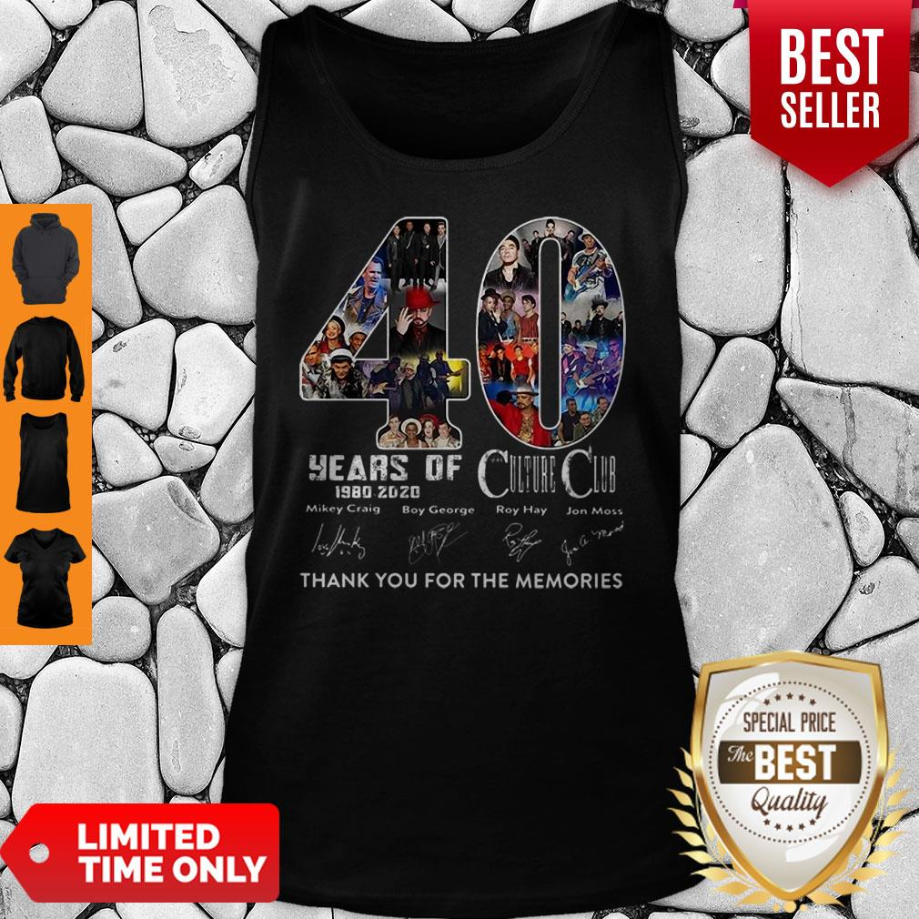 40 Years Of Culture Club Thank You For The Memories Signatures Tank Top