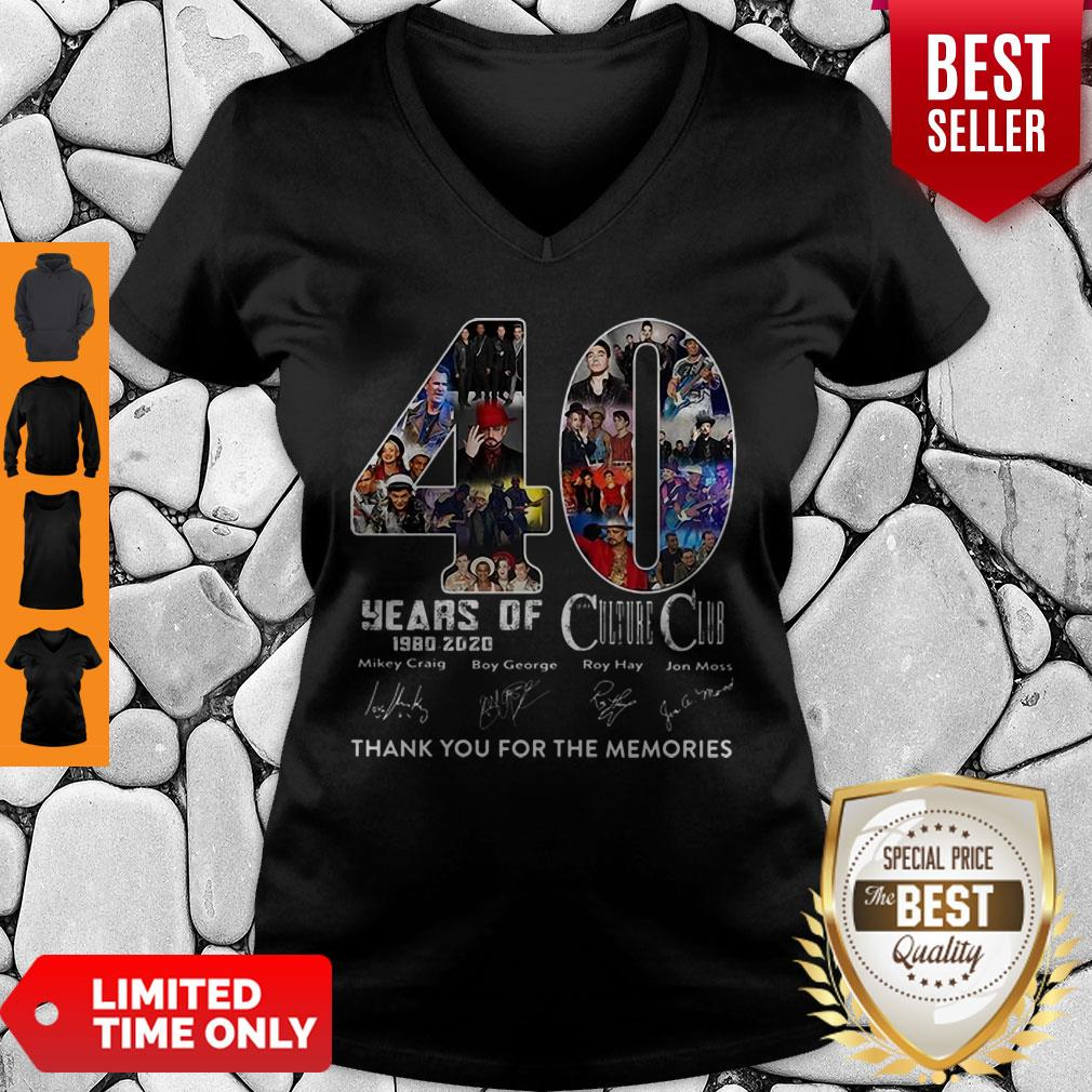 40 Years Of Culture Club Thank You For The Memories Signatures V-neck