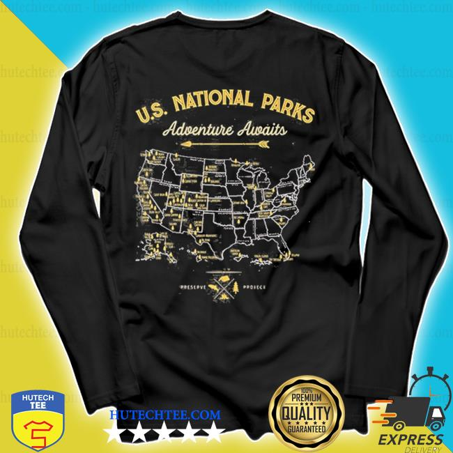 62 national parks map us park vintage camping hiking s longsleeve