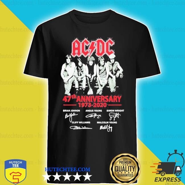 ACDC band 47th anniversary 1973 2020 signatures shirt
