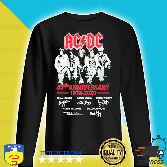 ACDC band 47th anniversary 1973 2020 signatures s sweater