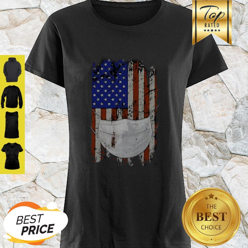 American Flag Quarantined Coronavirus Covid-19 Shirt