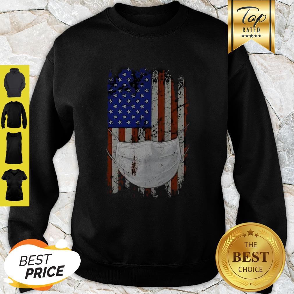 American Flag Quarantined Coronavirus Covid-19 Sweatshirt