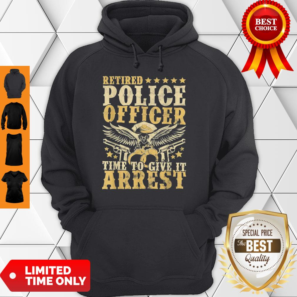Aneisha Retired Police Officer Policeman Retirement Gift Hoodie