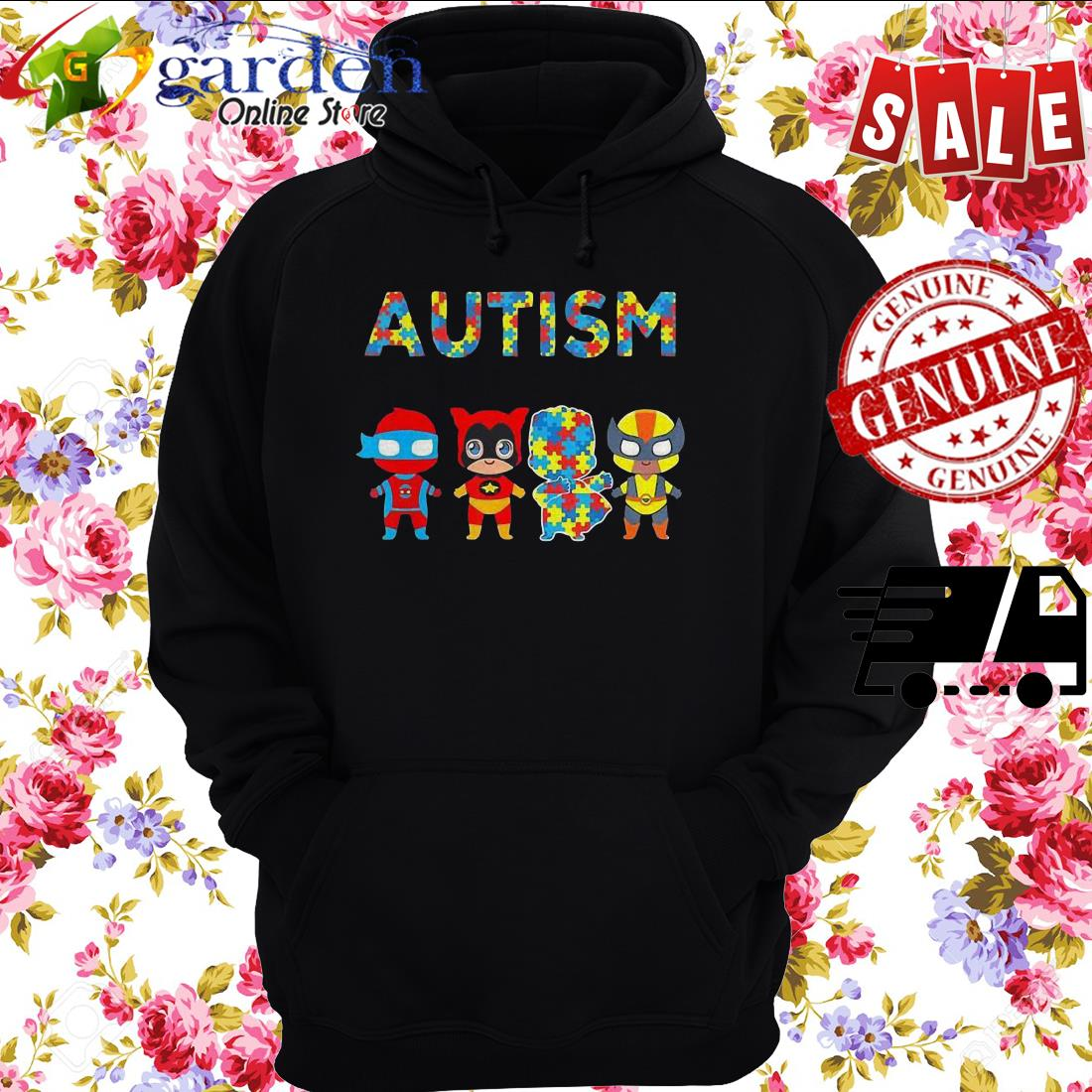 Autism It's Not A Disability It's A Different Ability Hero hoodie