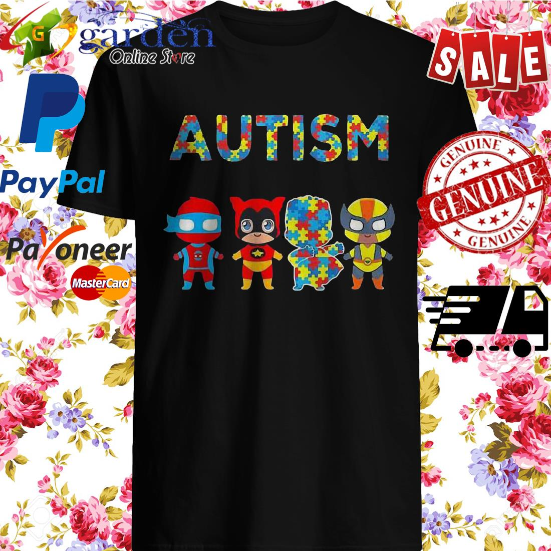 Autism It's Not A Disability It's A Different Ability Hero Shirt
