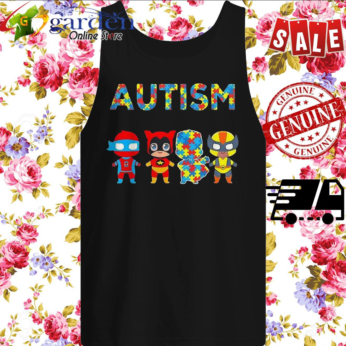 Autism It's Not A Disability It's A Different Ability Hero tank top