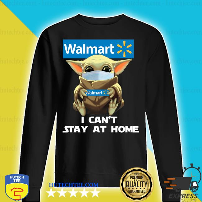 Baby Yoda face mask hug Walmart I can't stay at home s sweater