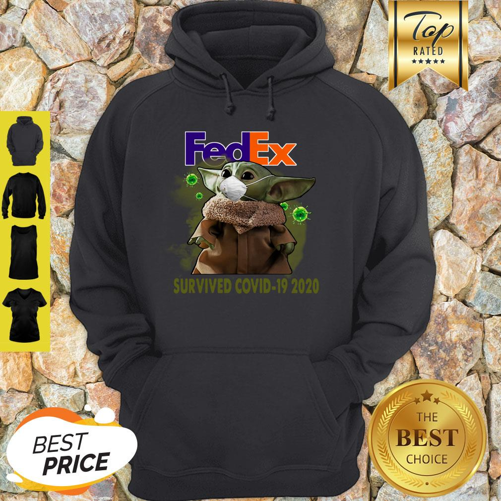 Baby Yoda FedEx Survived Covid 19 2020 Hoodie