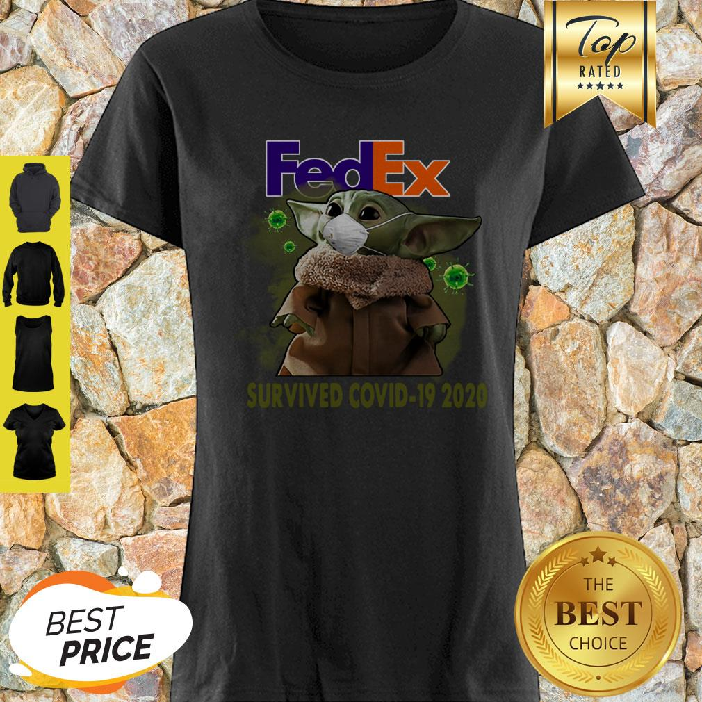 Baby Yoda FedEx Survived Covid 19 2020 Shirt