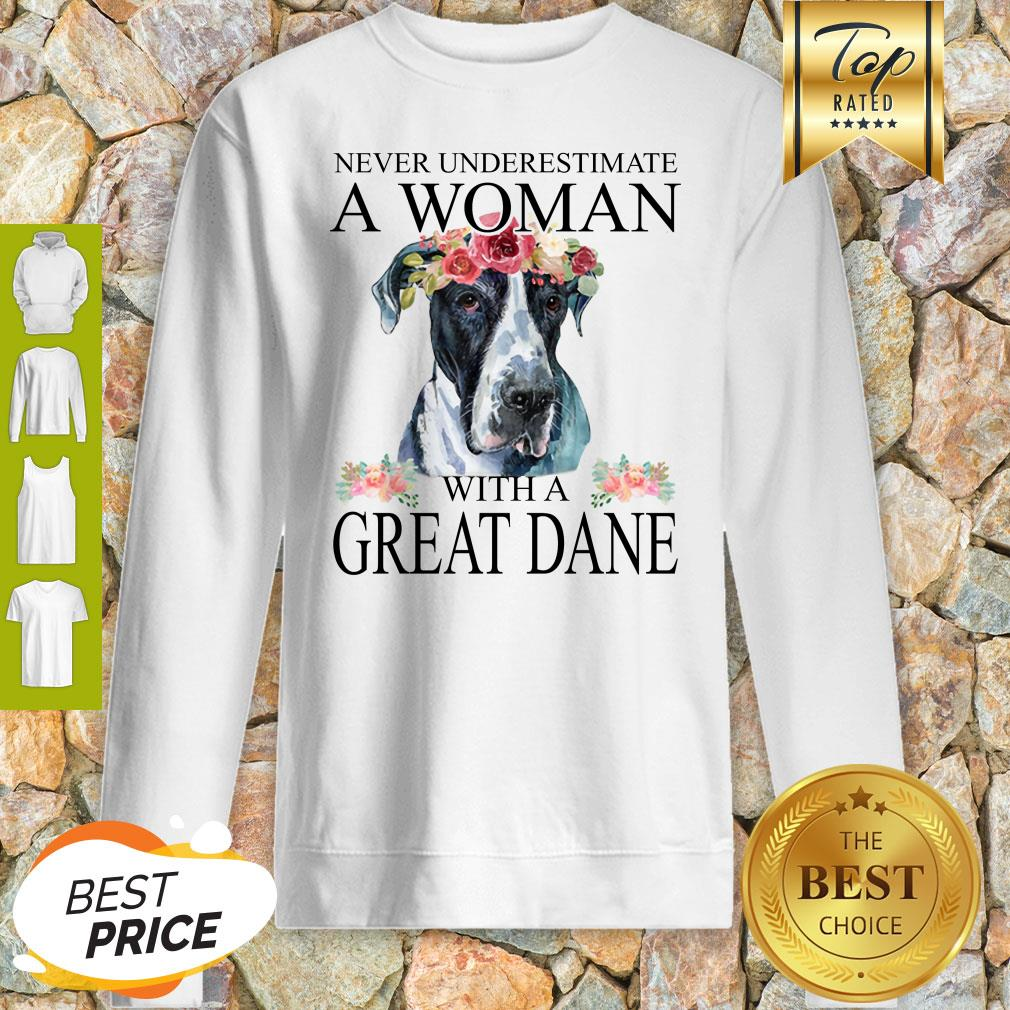 Beautiful Women Great-Dane Mom Mama Funny Mother Grandma Lover Gifts Sweatshirt
