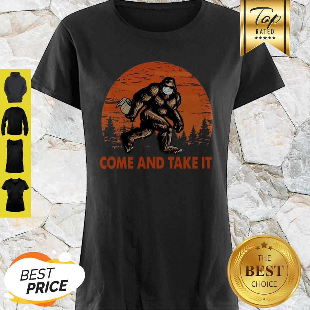 Bigfoot Sasquatch Come And Take It Sunset Toilet Paper Shirt