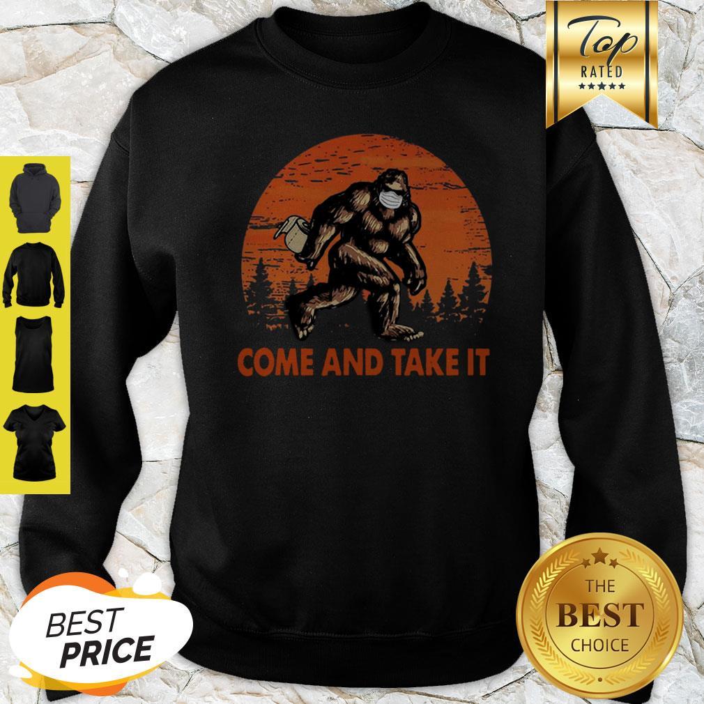Bigfoot Sasquatch Come And Take It Sunset Toilet Paper Sweatshirt
