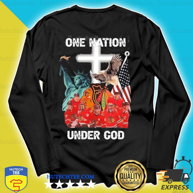 Chicago blackhawks one nation under god flag us s longsleeve