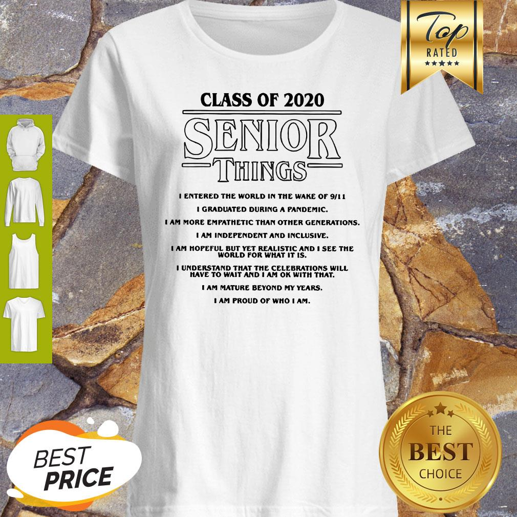 Class Of 2020 Senior Things Stranger Things Coronavirus Shirt
