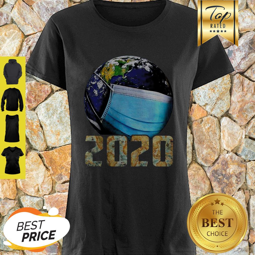 Coronavirus The Earth Mask 2020 Shirt