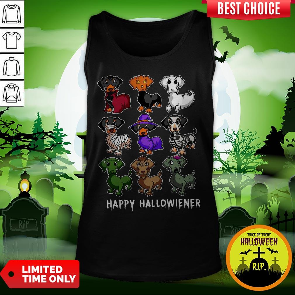 Dachshund Happy Halloweiner Funny Halloween Dogs Lover Gifts Tank Top