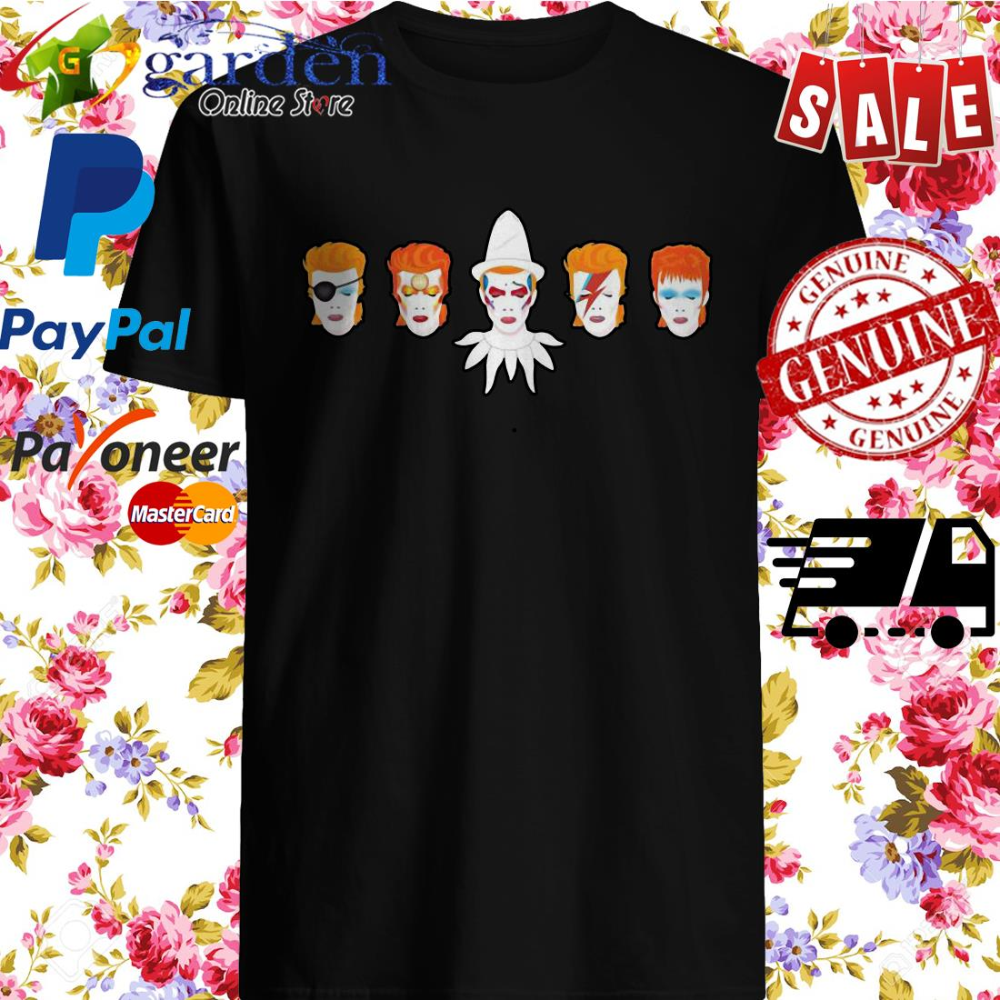 David Bowie Faces Shirt