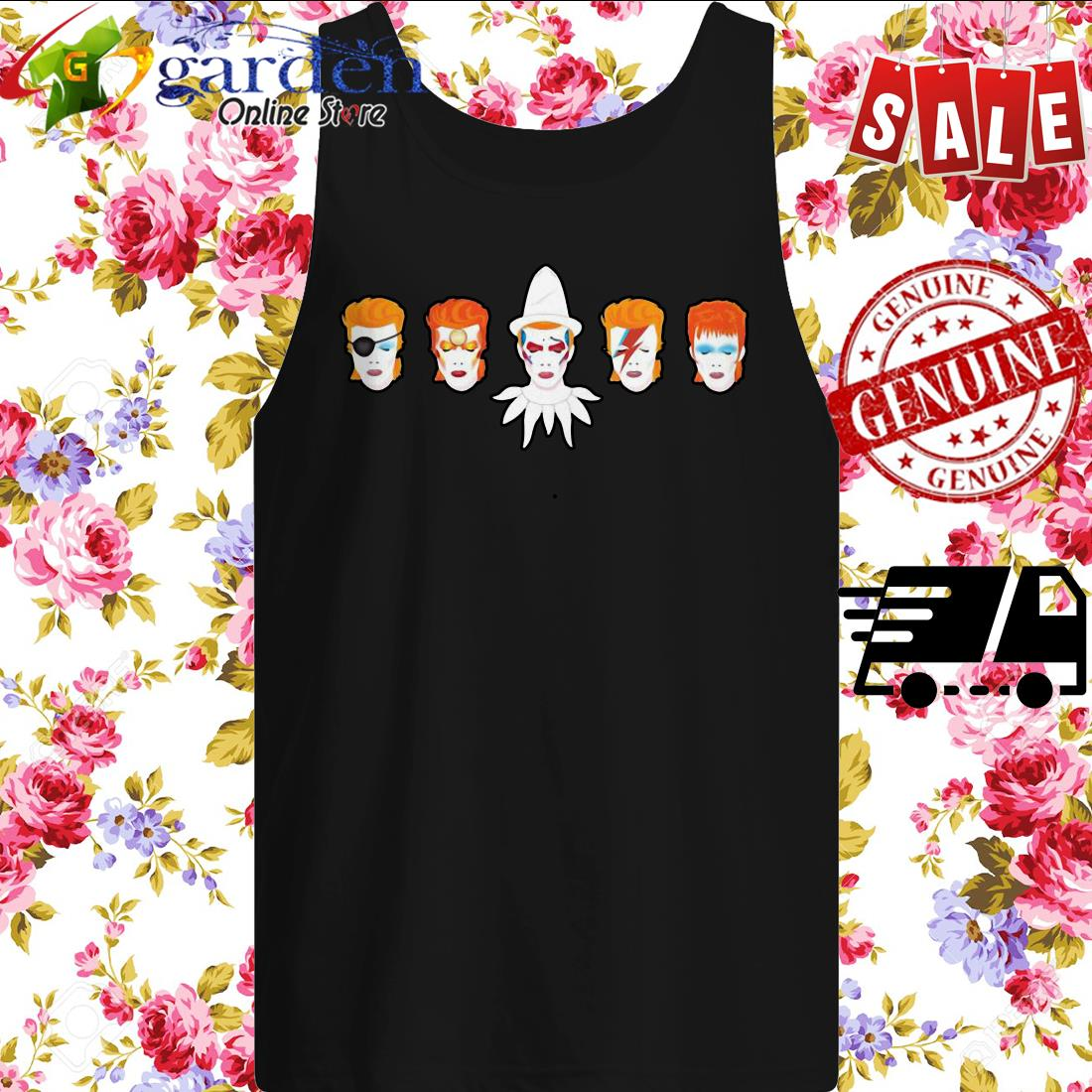 David Bowie Faces tank top
