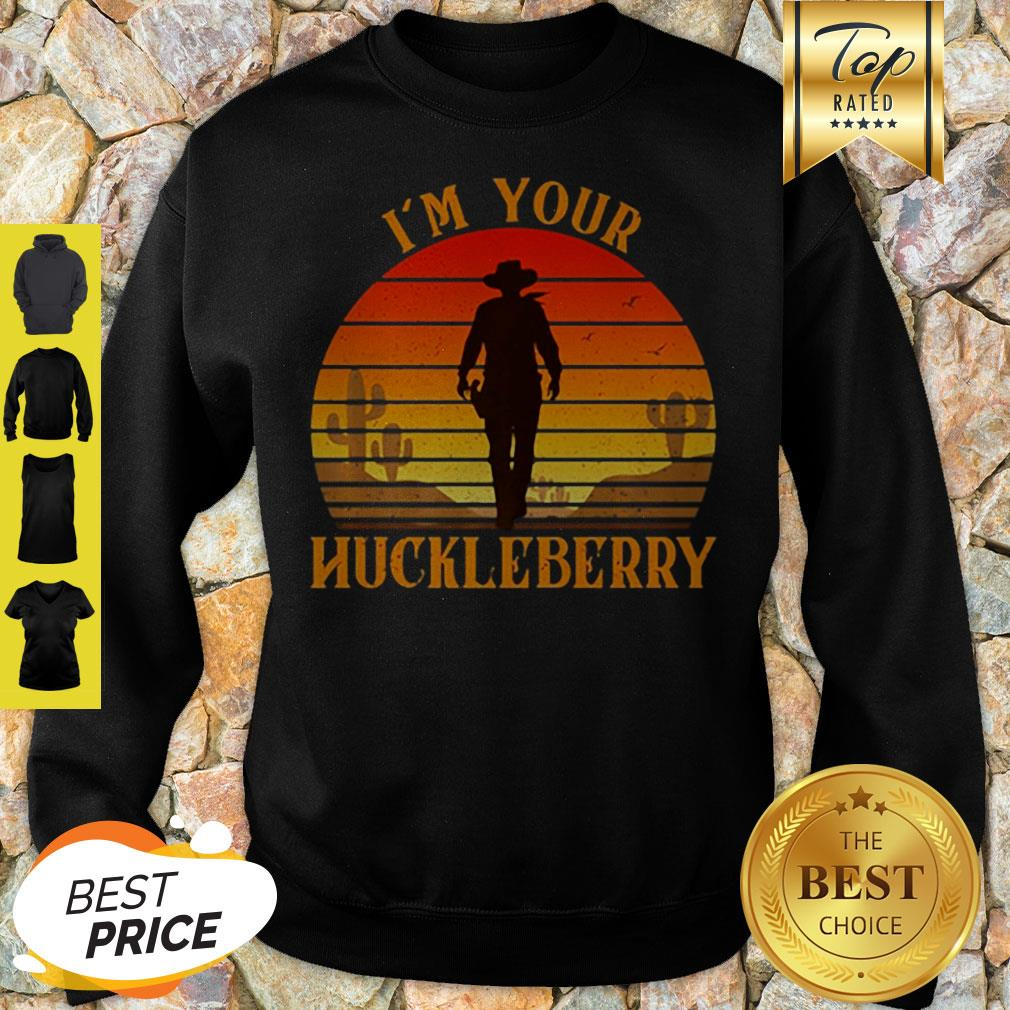 Doc Holiday I'm Your Huckleberry Retro Sunset Sweatshirt